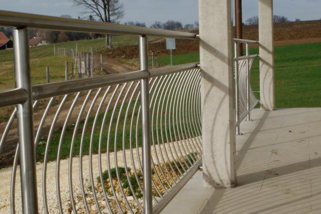 Barri re balustrade garde corps - Barriere de terrasse en fer ...