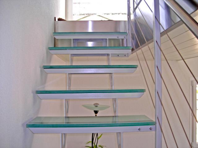Escalier m tallique - Escalier cable acier ...