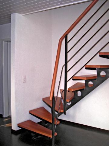 Escalier 1 4 tournant - Escalier cable acier ...