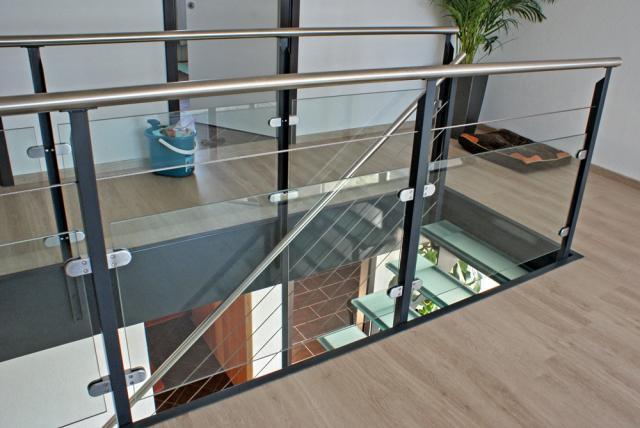 Escalier m tallique for Extension verre et acier